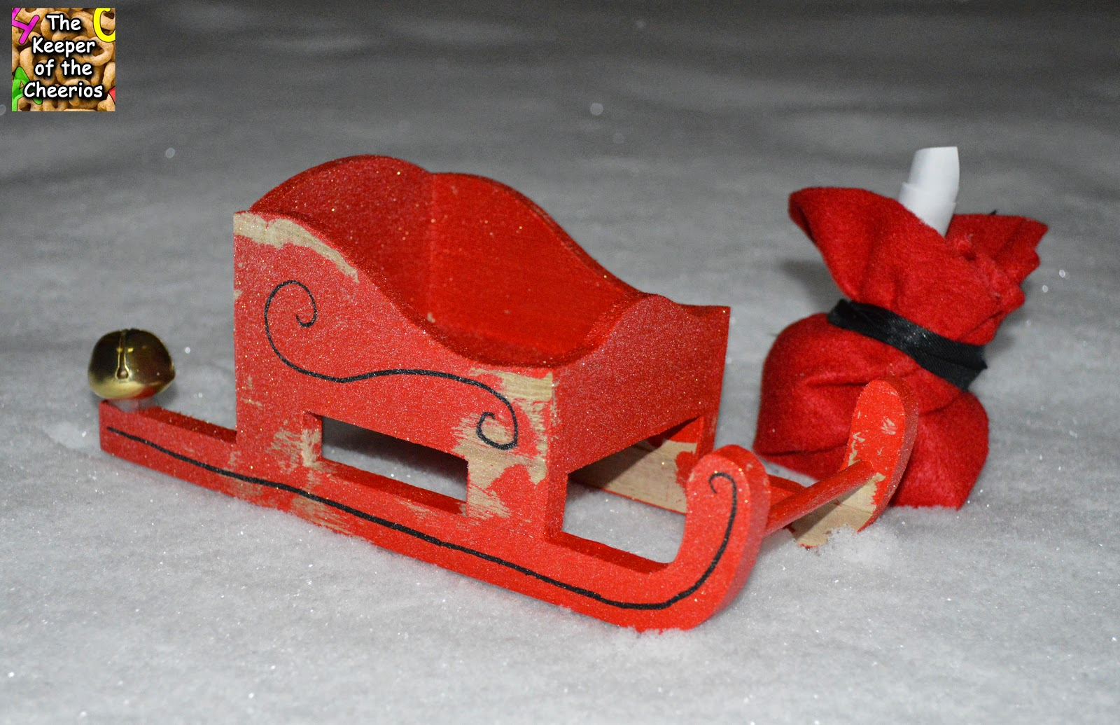 Santa Sleigh Craft The Keeper Of The Cheerios