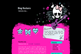 Plantilla Blog rockero