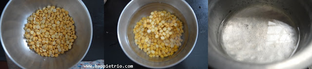 Step 1 - Channa Dal Sundal Recipe