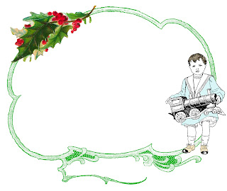 border frame christmas toys tag design digital image