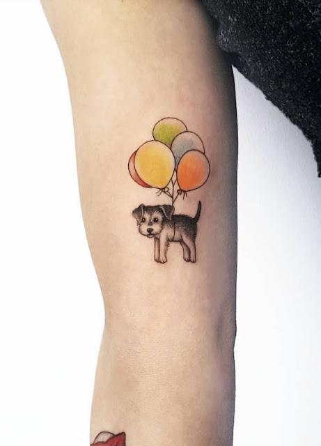 Mini tatuagens coloridas