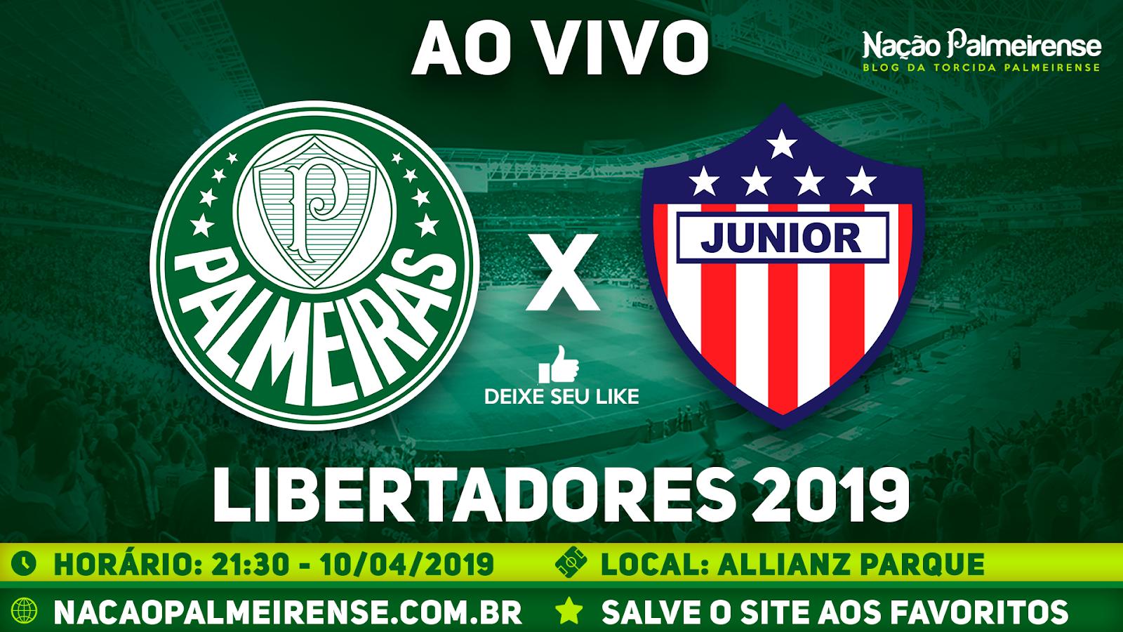 89b02478cda32 Jogo Palmeiras x Junior Barranquilla Ao Vivo Online HD 10 04 2019 ...