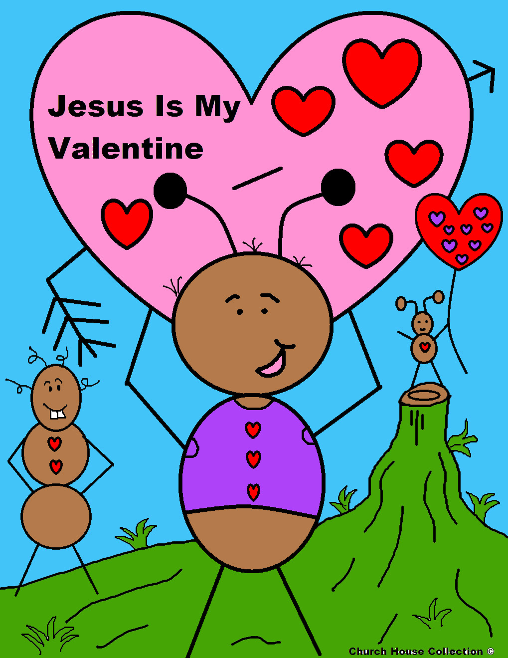 valentine coloring pages for kids jesus - photo #49