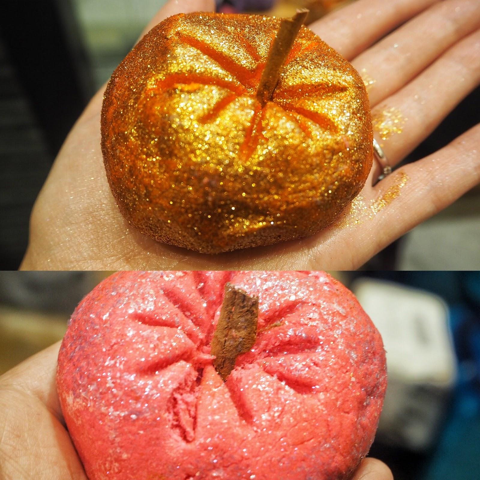 Lush, Halloween, 2017, Bath bombs, Bubble Bars, Autumn, Sparkly Pumpkin