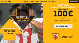 betfair supercuota Europa League Sevilla gana Slavia Prague 14 marzo 2019