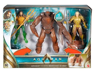 AQUAMAN Aquaman vs Brine King & Orm Pack 3 Figuras de Acción - Muñecos  Producto Oficial Película DC Comics 2018 | Mattel FWX38 | A partir de 3 años  COMPRAR ESTE JUGUETE