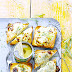 Pineapple And Gorgonzola Toast..