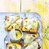 Pineapple And Gorgonzola Toast..