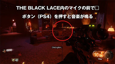 THE BLACK LACE内のマイクの前
