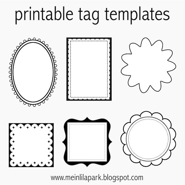 free printable tag templates for diy tags ausdruckbare etiketten freebie meinlilapark. Black Bedroom Furniture Sets. Home Design Ideas