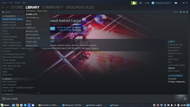 Games da Steam Windows Linux
