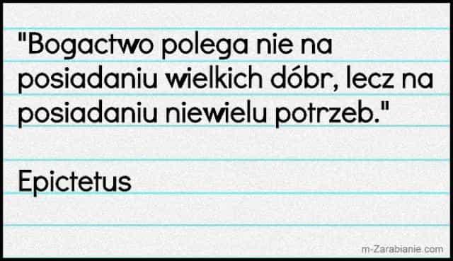 Epictetus, cytaty o sukcesie, bogactwie, pieniądzach i finansach.