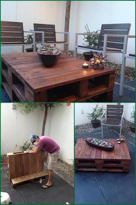 como hacer una mesa con palets de madera reciclados