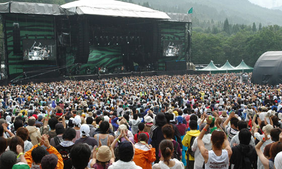 Fuji Rock Festival at the Naeba Ski resort in Niigata Pref.