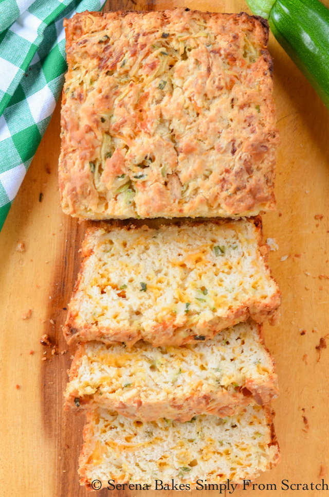 Zucchini Cheddar Cheese Herb Beer Bread | Serena Bakes ...