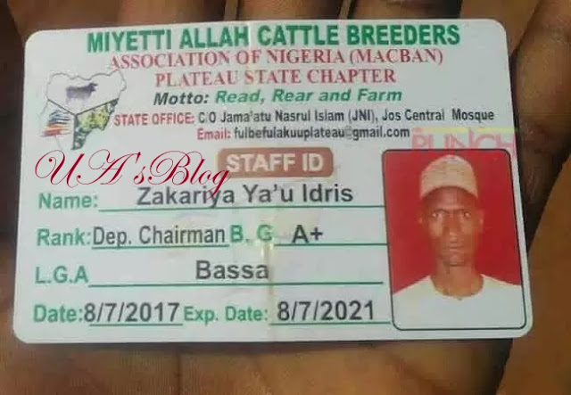 Controversy Brews As Miyetti Allah ID Card Is Found At Plateau Killings Site