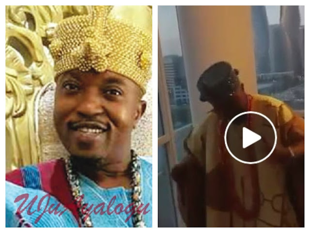 WATCH VIDEO!! Osun Monarch, Oluwo Caught On Camera Dancing Hard To 'Mad Over You Girl' By Runtown