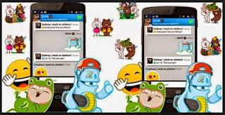 fitur sticker bbm android