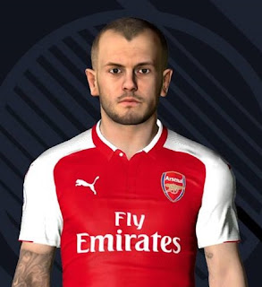PES 2017 Faces Jack Wilshere by Ben Hussam FaceMaker