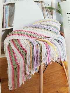 Crochet Textured Strips Afghan Pattern
