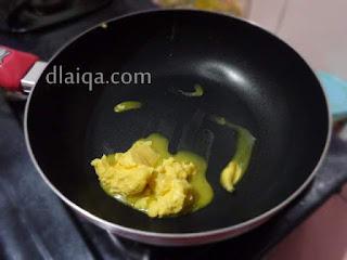 lelehkan margarin