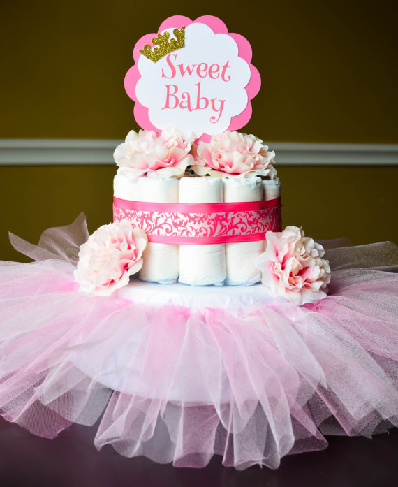 Pink Tutu Diaper Cake Princess Theme Baby Shower Decoration Choose Item