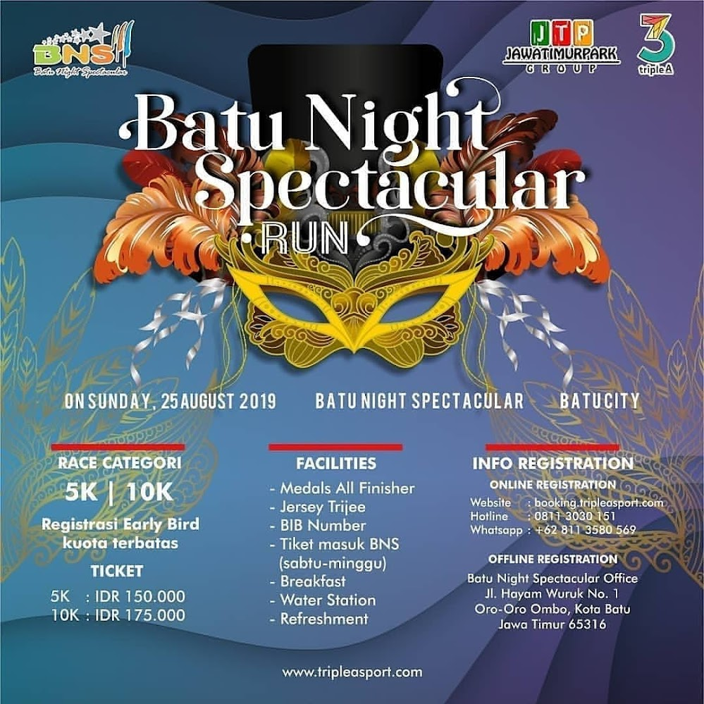Batu Night Spectacular Run 2019 Lariku Info