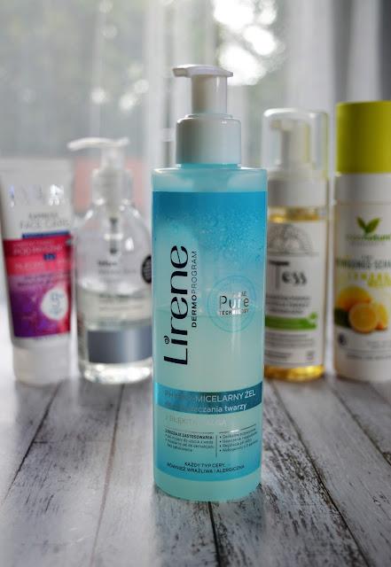 LIRENE PHYSIO-MICELARNY ŻEL do oczyszczania twarzy, pielegnacja twarzy, pielęgnacja, oczyszczanie, ulubieńcy kosmetyczni, kosmetyki, pianka do mycia, żel do mycia twarzy,