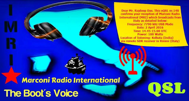 Marconi Radio International QSL