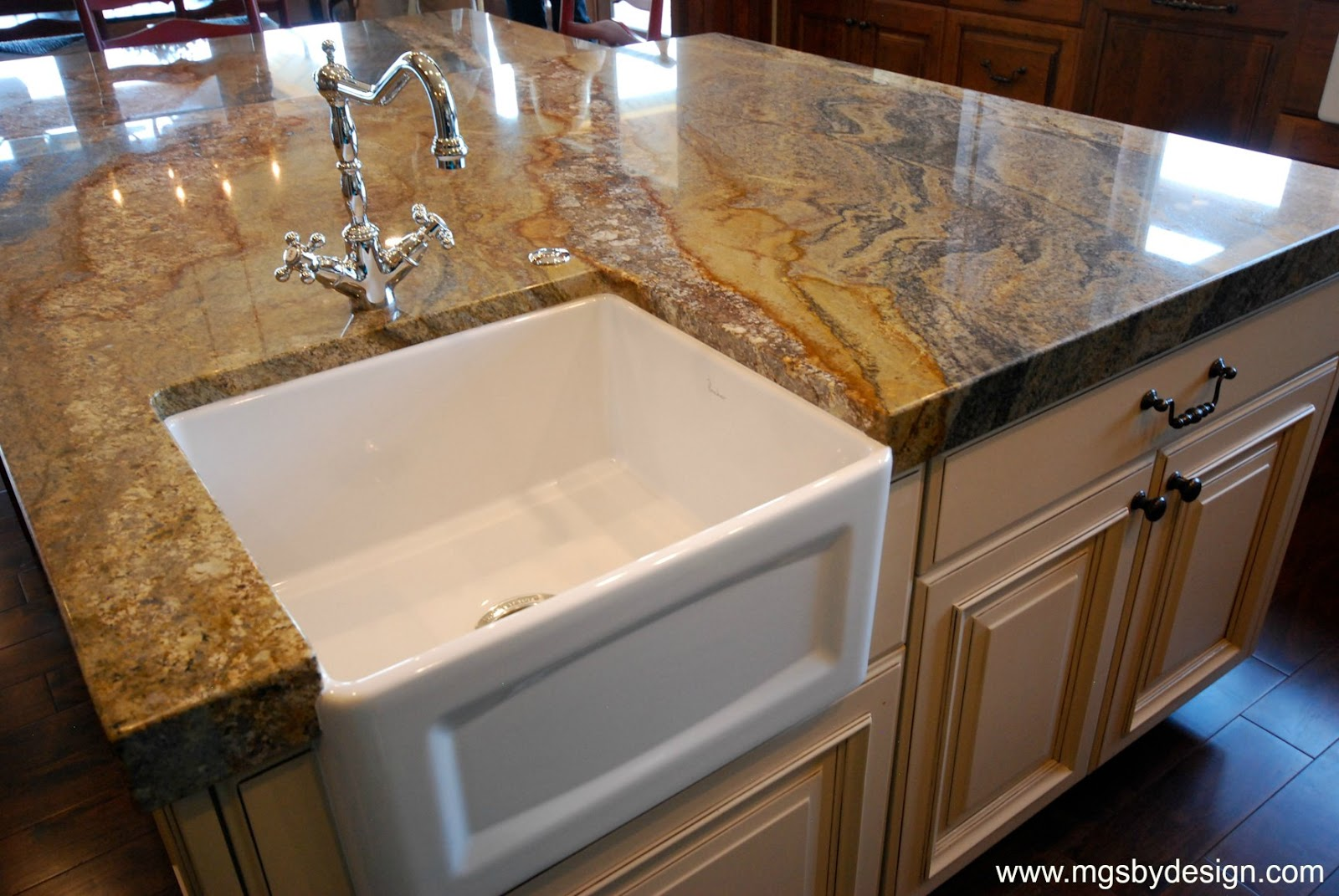The Granite Gurus: Absolute Black & Australian Reef ... on Farmhouse Granite Countertops  id=38721
