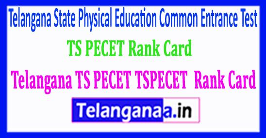 Telangana TS PECET TSPECET 2018 Rank Card