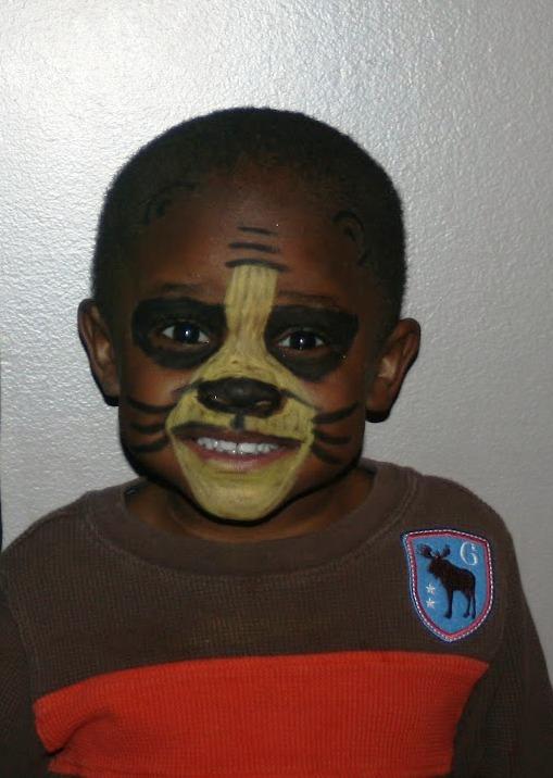 Black Bear Face Paint