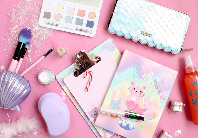 mermaid gift guide stationary make-up