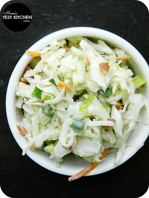 Mom's Test Kitchen: Apple Bacon Coleslaw #BaconMonth