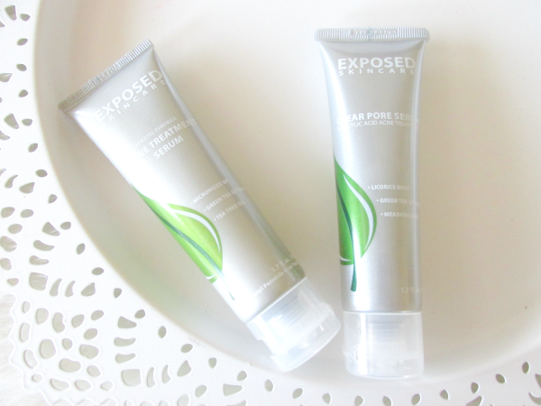 Exposed Skincare Acne Treatment Serum - 1.7oz. - $19.95 & Clear Pore Serum - 1.7oz. - $19.95
