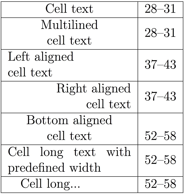 Latex tabular bottom align