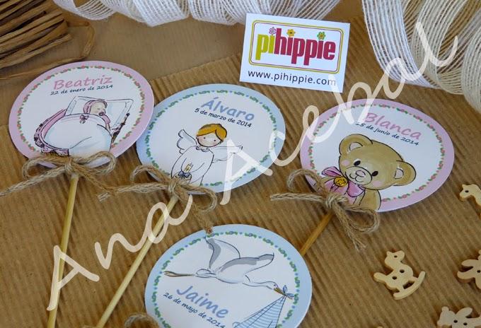 Decoracion Bautizo Nacimiento personalizado original Candy Bar Toppers
