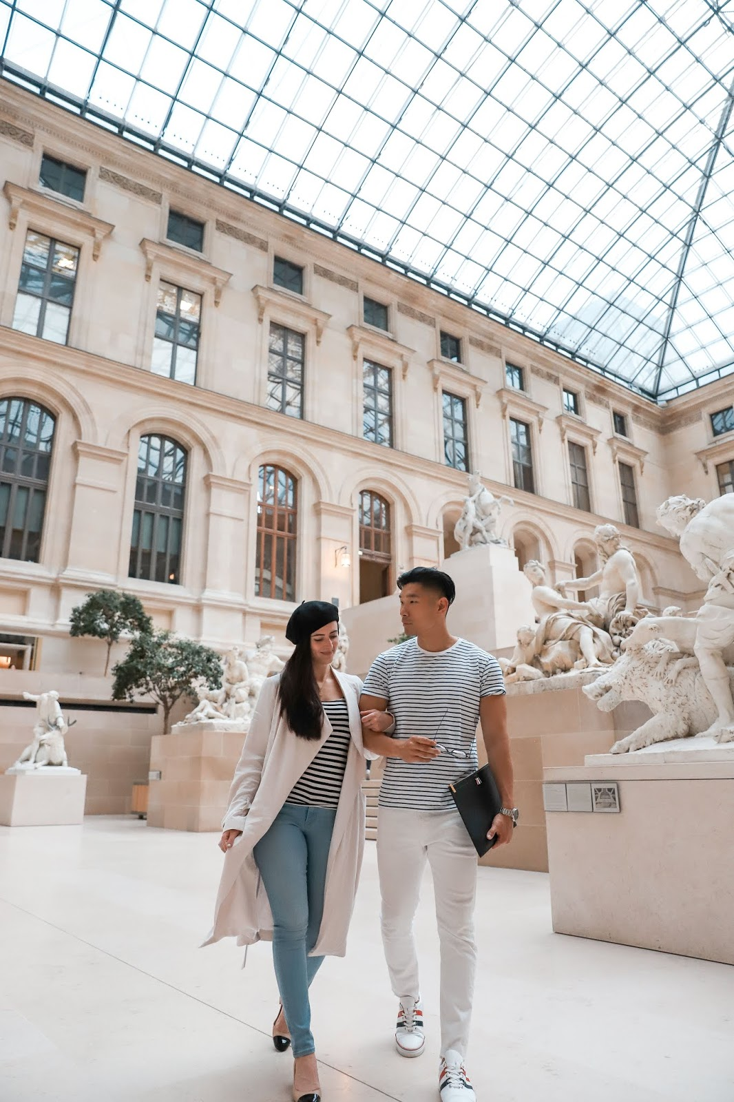 Alicia Mara and Leo Chan at the Louvre Museum in Paris | AMWF Couple