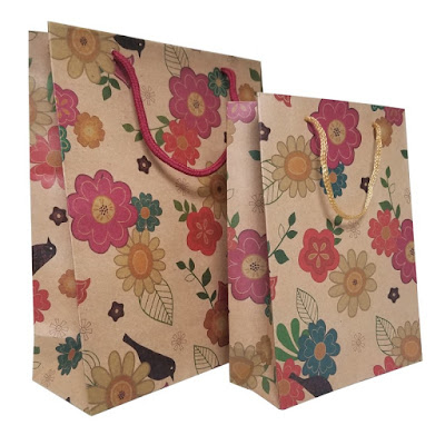 Shop Nile Corp Wholesale Floral Kraft Paper Gift Bag