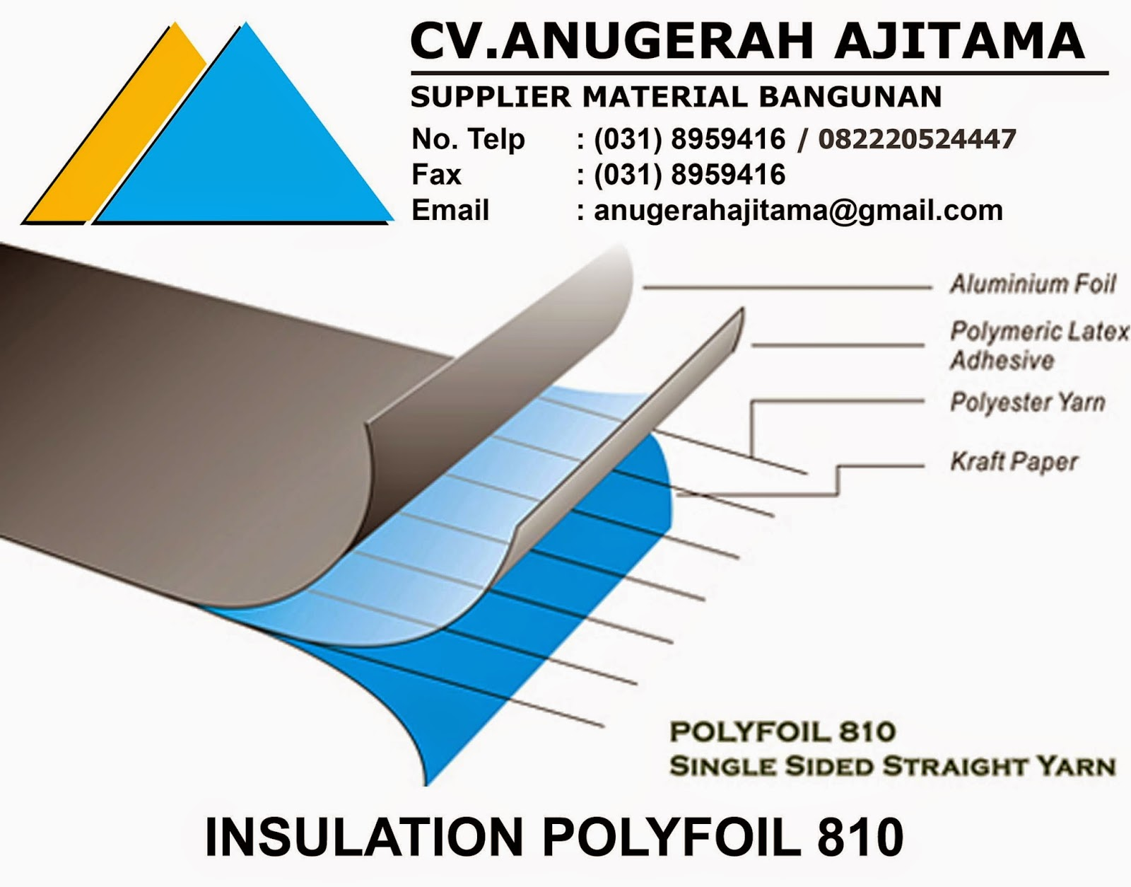 JUAL INSULATION POLYFOIL 810
