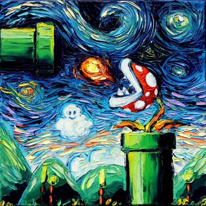 Aja Trier personajes de la cultura pop al estilo Vincent van Gogh | Postimpresionismo