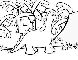 Cute Baby Dinosaur Coloring Sheet