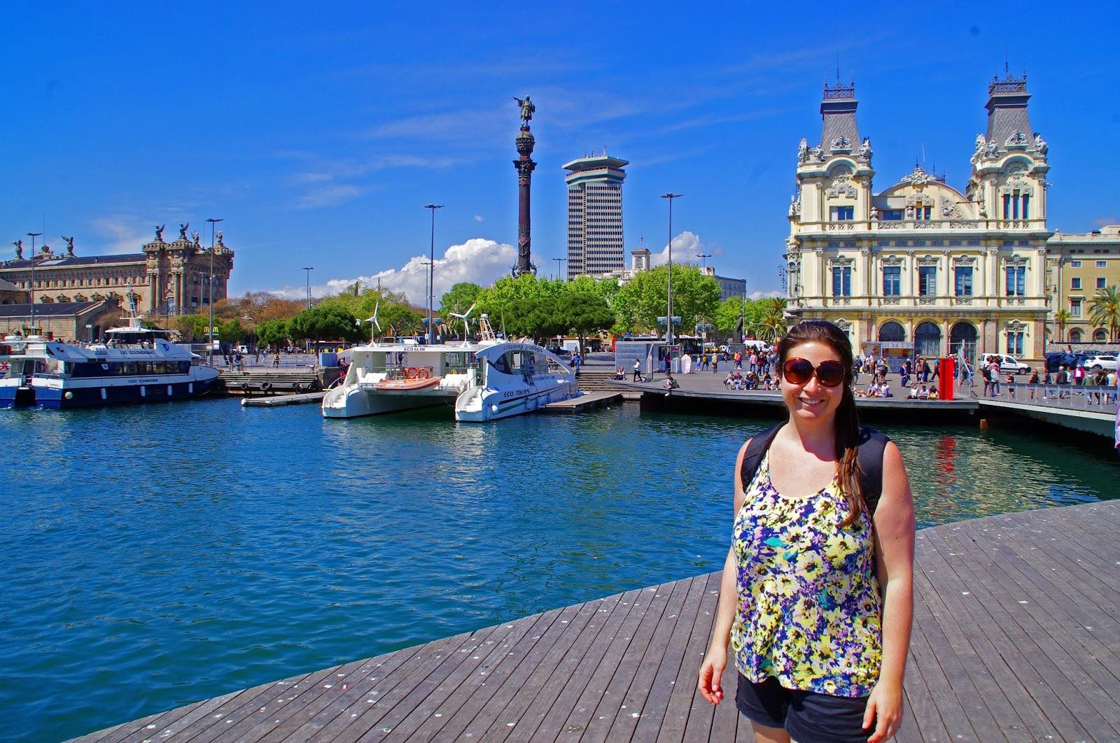 Simone at Barcelona Port