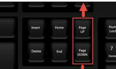 Information about page up Page down key computer
