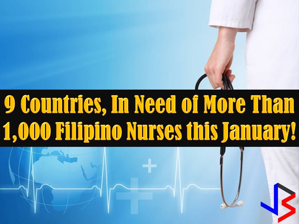 Filipino nurses are still in-demand in different parts of the world. Nurses from the Philippines are known to be hardworking with well-rounded personalities with their jobs. They are also known for being thoughtful, loving an caring. This is one reason why Filipino nurses are number one choice of many countries.  This January 2017, there are many countries who are looking for Filipino nurses to fill in the shortage in their workforce. The Philippine Overseas Employment Administration (POEA) has approved more than 1,000 job orders for nurses. Scroll down below to see the list of nursing jobs for abroad this January 2018!  Please reminded that we are not recruitment agencies, all information in this article is taken from POEA website and being sort out for much easier use. The contact information of recruitment agencies is also listed. Interested applicant may directly contact the agencies' representative for more information and for the application. Any transaction entered with the following recruitment agencies is at applicants risk and account.