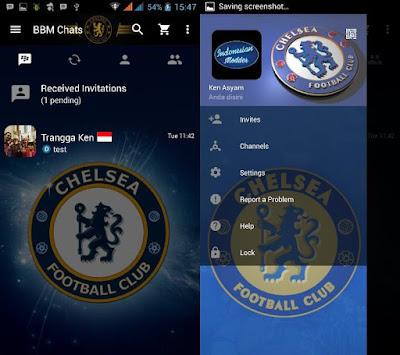 BBM Chelsea V3.0.0.18 MOD By Trangga Ken BBM Tema Sepak Bola Terbaru