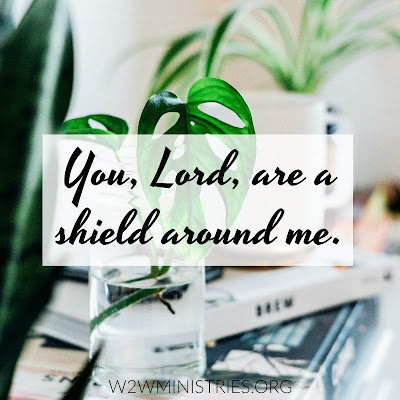 No matter what is going on around us, the Lord is our shield.