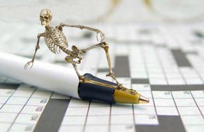 Crucigrama. Huesos del cuerpo hunmano