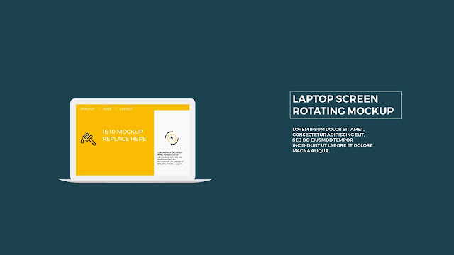 Free PowerPoint Template with Rotating Laptop Screen Mockup Slide 6