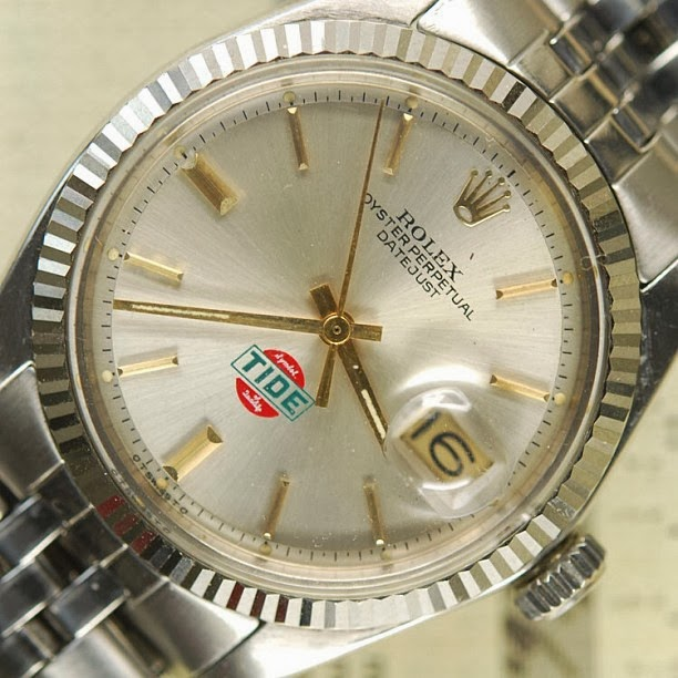 Rolex dial with TIDE logo